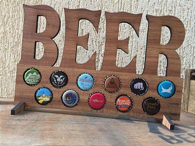 Quadro porta-tampinhas de cerveja - My Beers Especialista SOMMELIER. 11 Espaços!