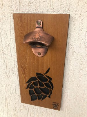 Abridor Magnético de garrafas para parede - Layout Lúpulo