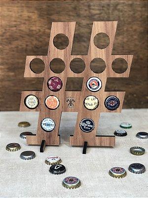 Quadro Porta-Tampinhas Alfabeto Wood - Símbolo #