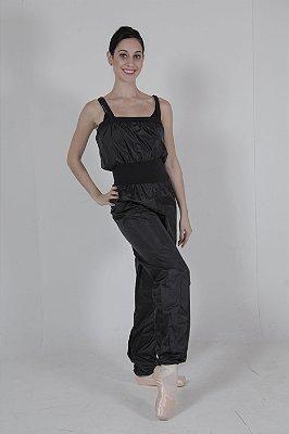 Macacão de nylon preto- Ativa o suor