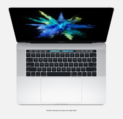 "Apple Macbook Pro 15"" Touchbar MLW82BZ/A Intel Quad Core i7 2,7 GHz 16GB 512GB SSD - Prateado - MLW82"