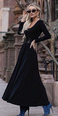 Vestido Plissado Blair
