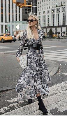 Vestido Midi Toile Jouy