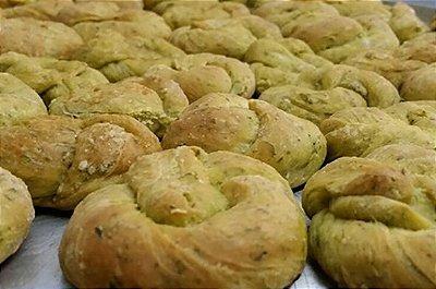 Pão de ervas sem lactose