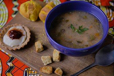 Combinado Sopa (sopa 600 ml + pão + sobremesa)
