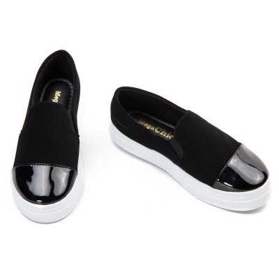 Slip On Preto Confort  MegaChic