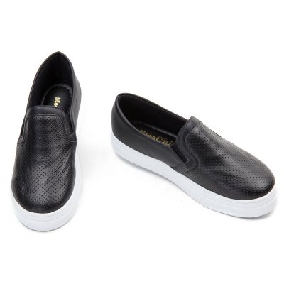 Slip On Napa Preto Confort  MegaChic
