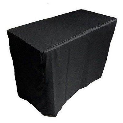 Capa Envelope Preta para mesa dobrável M - 152x76x74cm
