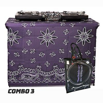 COMBO 3 - Capa Multiuso Bandana Lilas + Sacola Technic-se Black