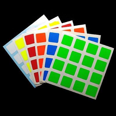 Adesivo 4x4x4 Moyu Aosu - Fluorescente