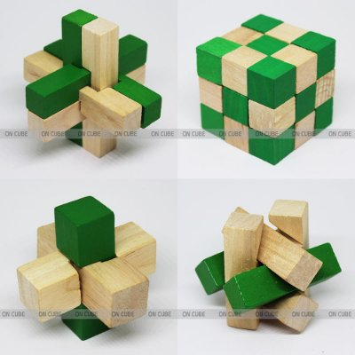 Box Puzzles de Madeira - 4 peças