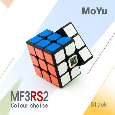 Cubo Mágico 3x3x3 Moyu MF3RS2 Preto