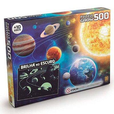 Quebra-Cabeça Sistema Solar - Brilha no Escuro 500 peças