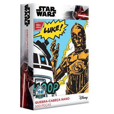 Quebra-Cabeça Star Wars - C-3PO/R2-D2 500 Peças Nano