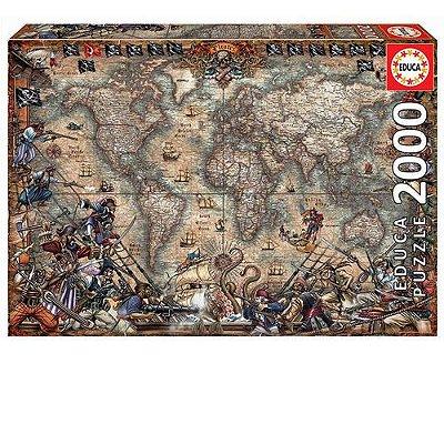 Quebra-Cabeça Pirates Map Of The World 2000 peças