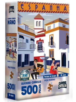 Quebra-Cabeça Postais da Europa - Espanha 500 Peças Nano