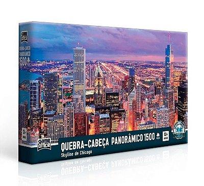 Quebra-Cabeça Panorâmico Skyline Chicago 1500 peças