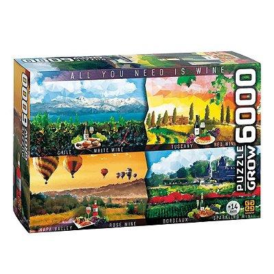 Quebra-Cabeça Vinhos do Mundo 6000 peças
