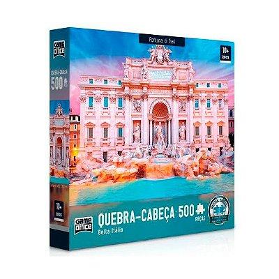 Quebra-Cabeça Bella Itália - Fontana di Trevi 500 peças
