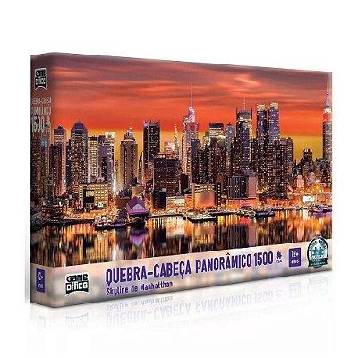 Quebra-Cabeça Panorâmico Skyline de Manhattan 1500 peças