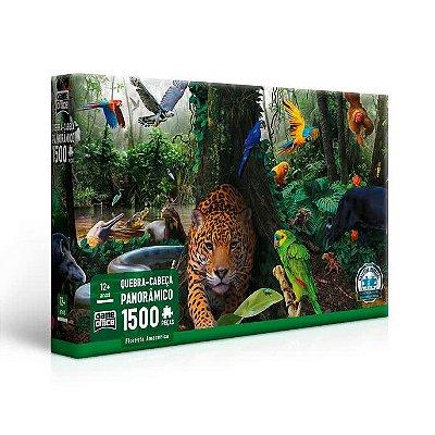 Quebra-Cabeça Panorâmico Floresta Amazônica 1500 peças