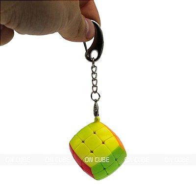Chaveiro Cubo Mágico 3x3x3 Fanxin - 3,6 cm