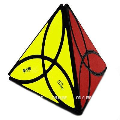 Cubo Mágico Pyraminx Clover Qiyi Preto