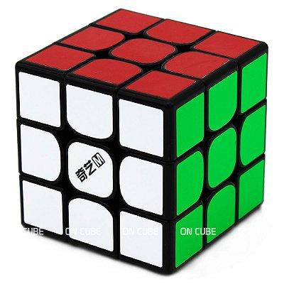 Cubo Mágico 3x3x3 Qiyi MS Preto - Magnético