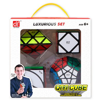 Box Cubo Mágico Qiyi Megaminx + Pyraminx + Skewb + Ivy Preto