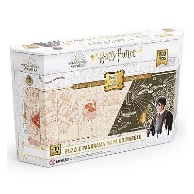 Quebra-Cabeça Panorâmico Harry Potter - Brilha no Escuro 500 peças