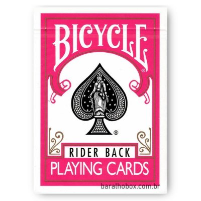 Baralho Bicycle Rider Back Fuchsia