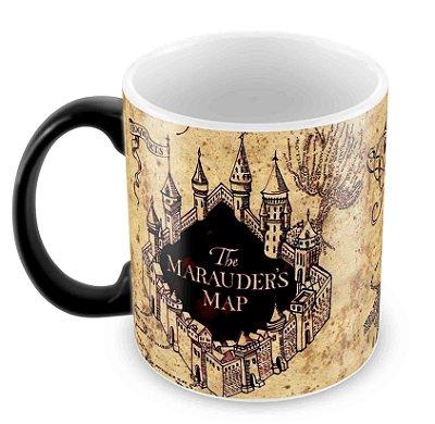 Caneca Mágica - Harry Potter Mapa do Maroto