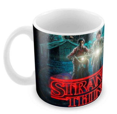 Caneca Branca - Stranger Things