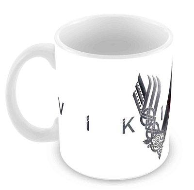 Caneca Branca - Vikings - Logo