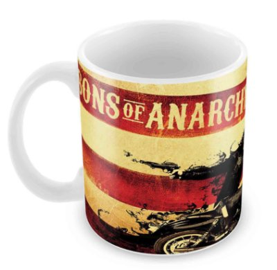 Caneca Branca - Sons of Anarchy - Jax