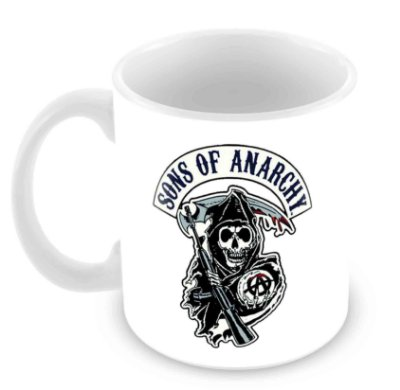 Caneca Branca - Sons of Anarchy - Logo