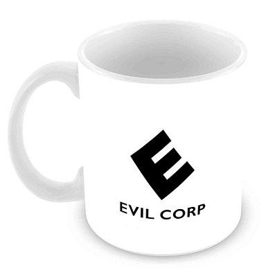 Caneca Branca - Mr Robot - Evil Corp