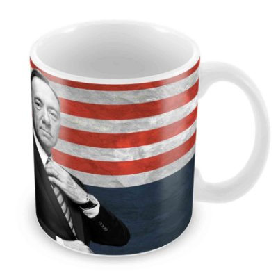 Caneca Branca - House of Cards