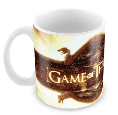 Caneca Branca - Game of Thrones - Logo 2