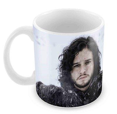 Caneca Branca - Game of Thrones - Jon Snow