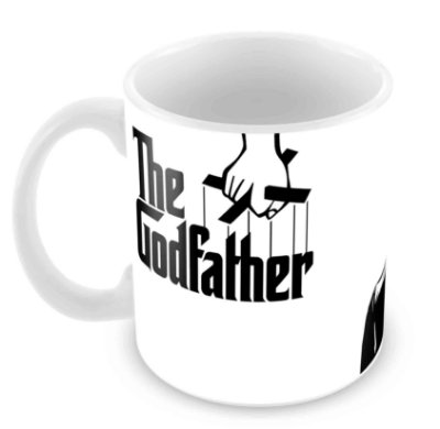 Caneca Branca - O Poderoso Chefão - The Godfather