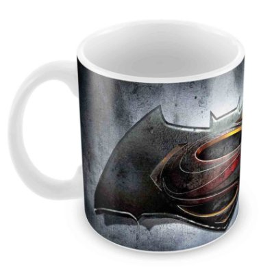 Caneca Branca - Batman vs Superman