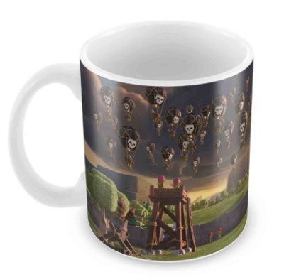Caneca Branca - Clash of Clans