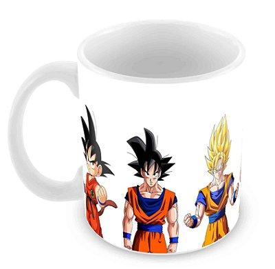 Caneca Branca - Goku Fases