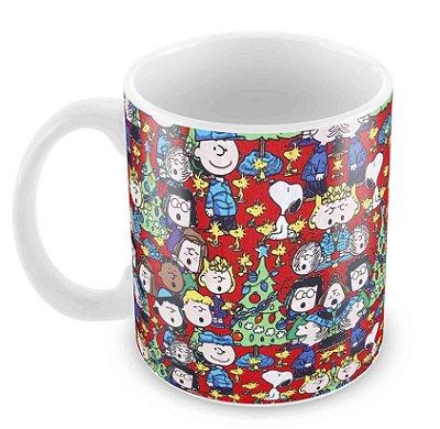 Caneca Branca - Snoopy Natal