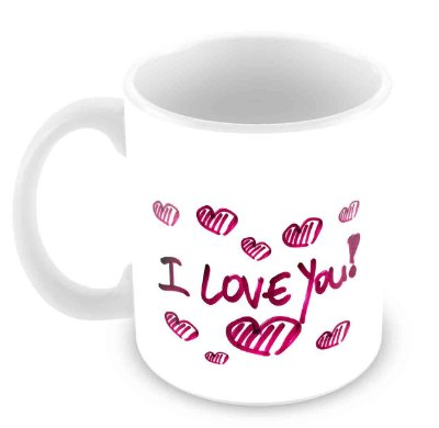 Caneca Branca -  Amor I Love You