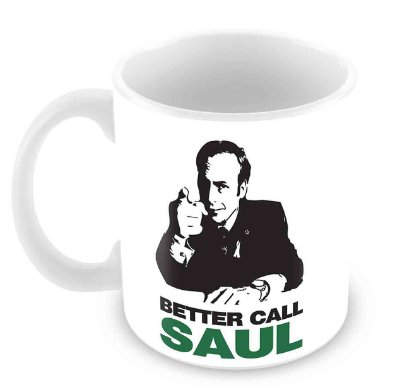 Caneca Branca - Breaking Bad - Better Call Saul