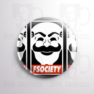Botton - Mr Robot - FSociety