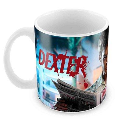 Caneca Branca - Dexter - Miami Star