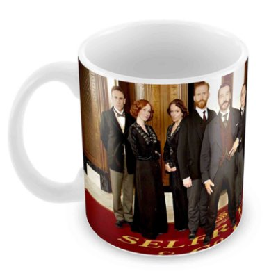 Caneca Branca - Mr Selfridge - Elenco